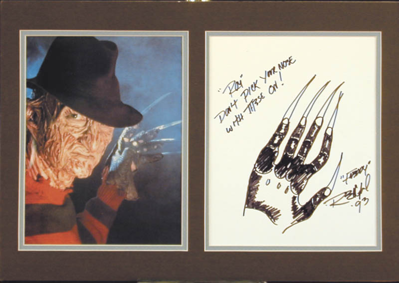 Image 1 for Robert Englund - Inscribed Original Art Signed 1993 - HFSID 254539