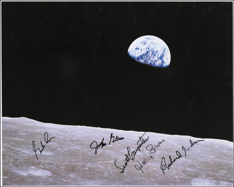 Image 1 for John Glenn - Autographed Signed Photograph with co-signers - HFSID 254565