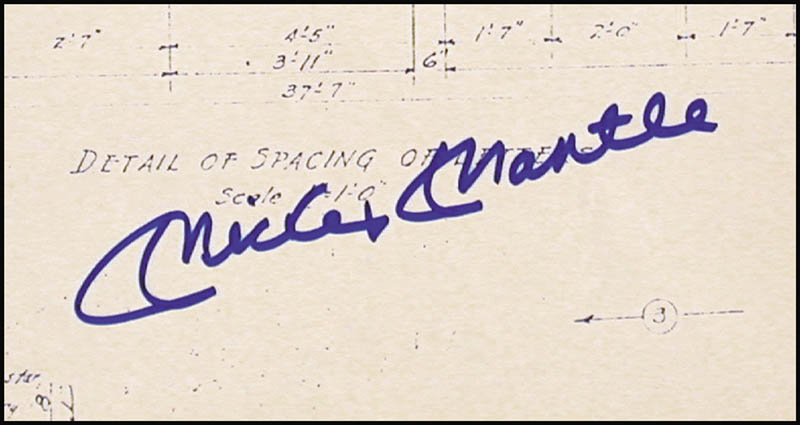 Mickey mantle blueprint signed autographs manuscripts mickey mantle blueprint signed hfsid 254573 malvernweather Gallery
