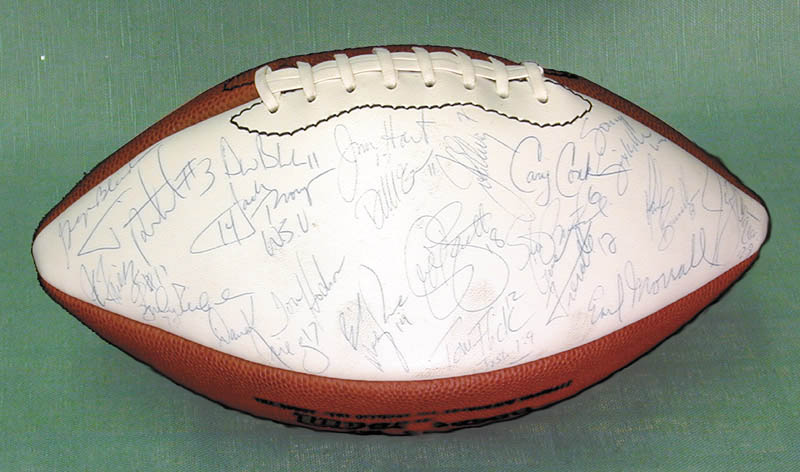 Image 1 for John Elway - Football Signed with co-signers - HFSID 254588