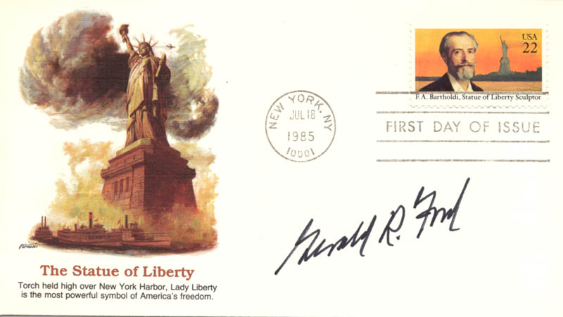 Image 1 for President Gerald R. Ford - First Day Cover Signed - HFSID 254595
