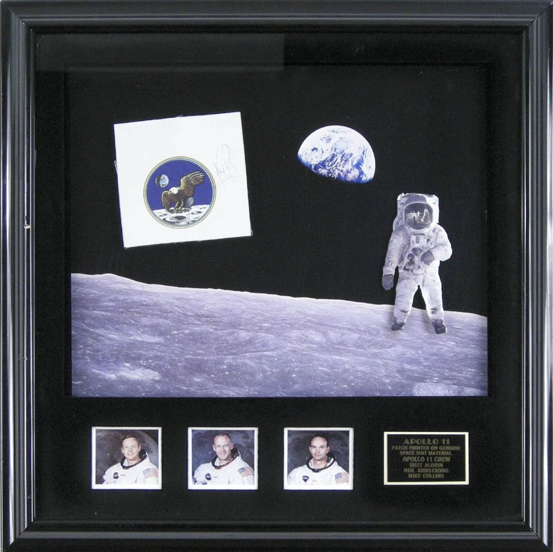 Image 1 for Neil Armstrong - Ephemera Signed co-signed by: Brigadier General Michael Collins - HFSID 254625