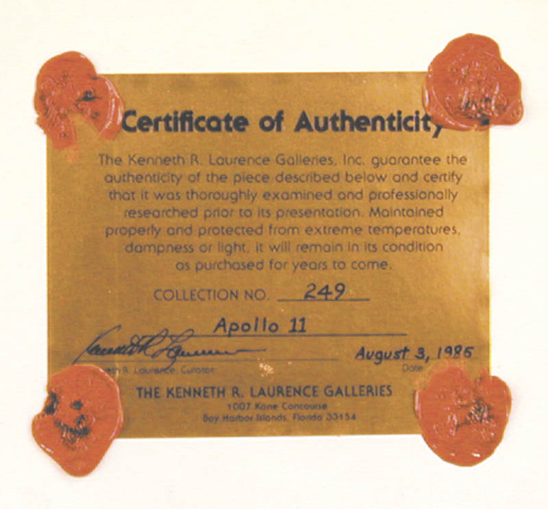 Image 4 for Neil Armstrong - Ephemera Signed co-signed by: Brigadier General Michael Collins - HFSID 254625
