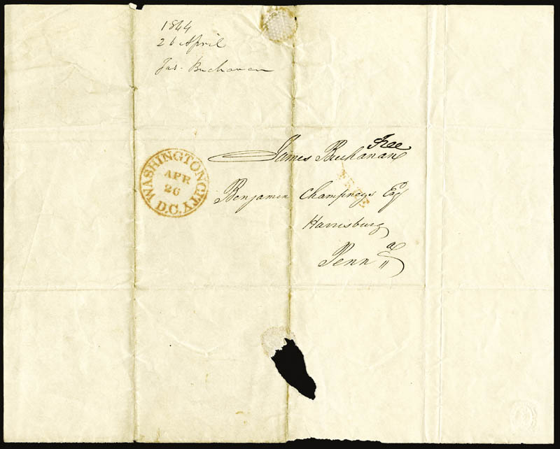 Image 1 for President James Buchanan - Free Frank Signed 04/26 - HFSID 254650