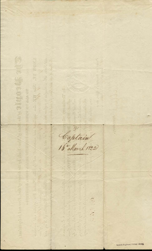 Image 3 for Governor Dewitt Clinton - Military Appointment Signed 03/16/1822 - HFSID 254661