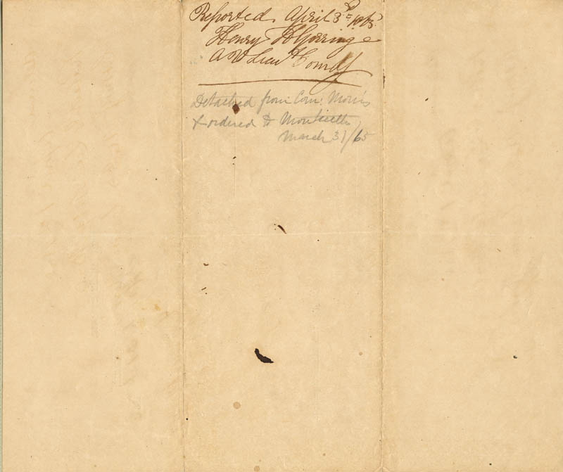 Image 3 for Admiral David D. Porter - Document Signed 03/31/1865 - HFSID 254701