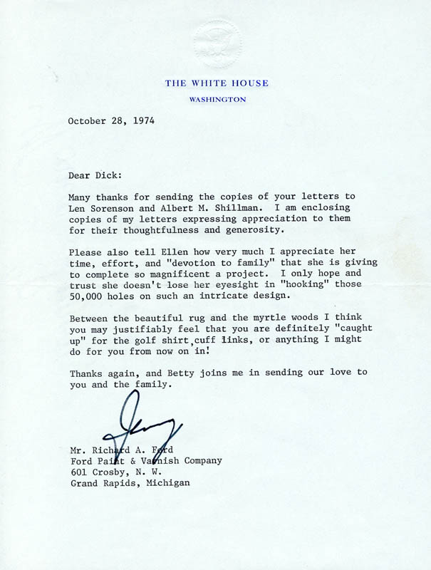 Image 1 for President Gerald R. Ford - Typed Letter Signed 10/28/1974 - HFSID 254735
