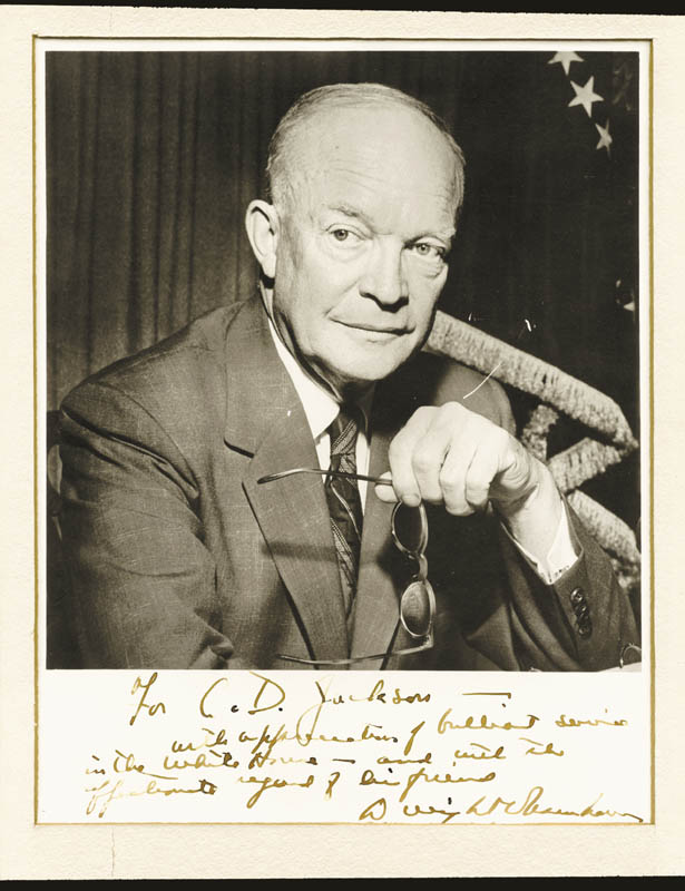 Image 1 for President Dwight D. Eisenhower - Inscribed Photograph Mount Signed - HFSID 254742