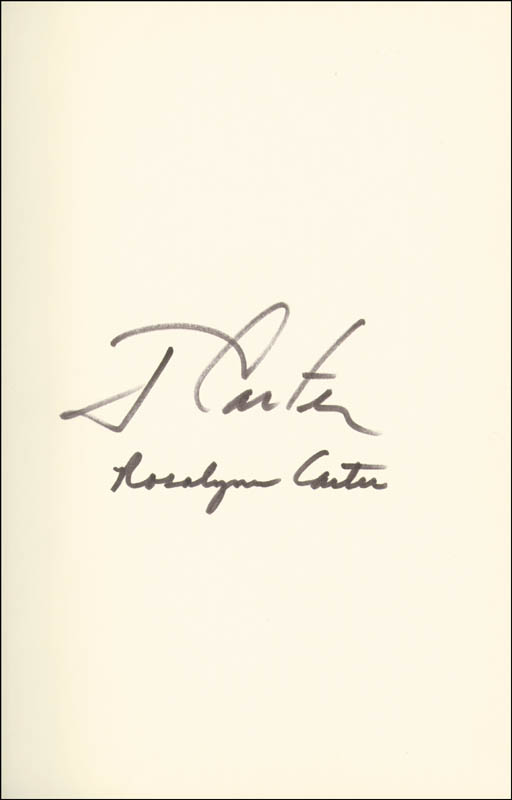 Image 1 for President James E. 'Jimmy' Carter - Book Signed Circa 1987 co-signed by: First Lady Rosalynn Carter - HFSID 254890