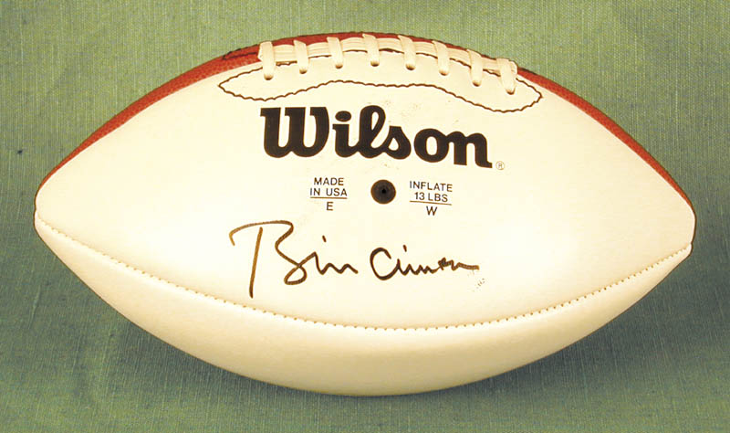 Image 1 for President William J. 'Bill' Clinton - Football Signed - HFSID 254896
