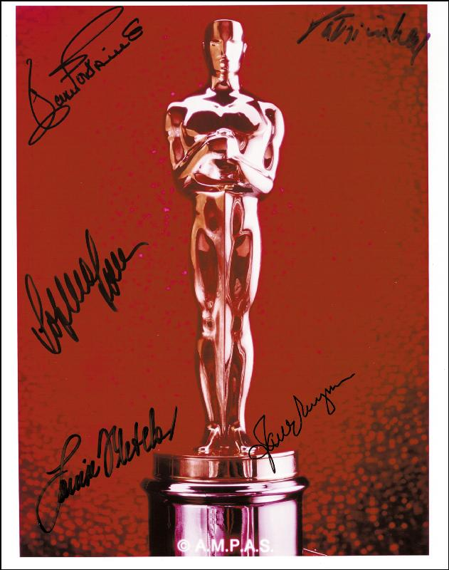 Image 1 for Oscar Winners - Autographed Signed Photograph co-signed by: Patricia Neal, Joan Fontaine, Jane Wyman, Sophia Loren, Louise Fletcher - HFSID 255149
