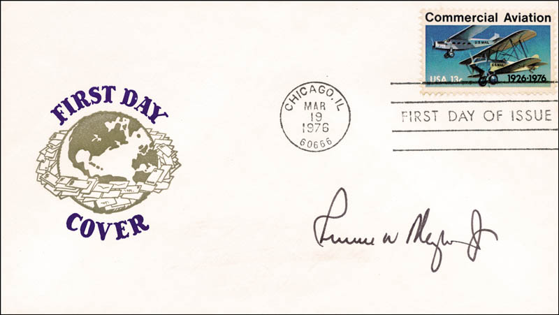 Image 1 for Russell W. Meyer Jr. - First Day Cover Signed - HFSID 255234
