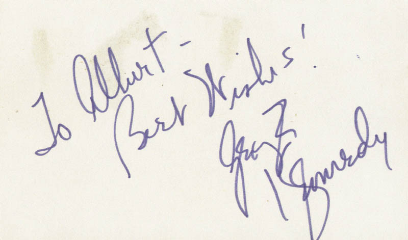 Image 1 for George Kennedy - Autograph Note Signed - HFSID 25530