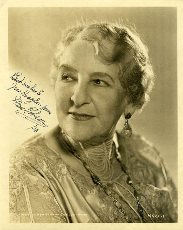 Image 1 for May Robson - Autographed Inscribed Photograph 1934 - HFSID 255511