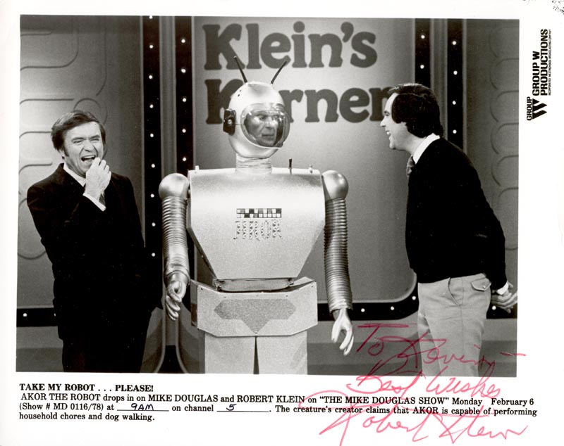 Image 1 for Robert Klein - Autographed Inscribed Photograph - HFSID 25552