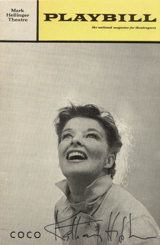 Image 1 for Katharine Hepburn - Show Bill Signed Circa 1970 - HFSID 255525