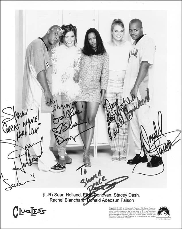 Image 1 for Clueless TV Cast - Autographed Inscribed Photograph with co-signers - HFSID 255581