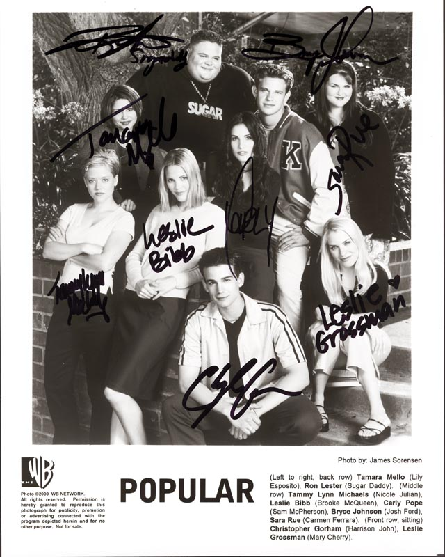 Image 1 for Popular TV Cast - Autographed Signed Photograph Circa 2000 with co-signers - HFSID 255627