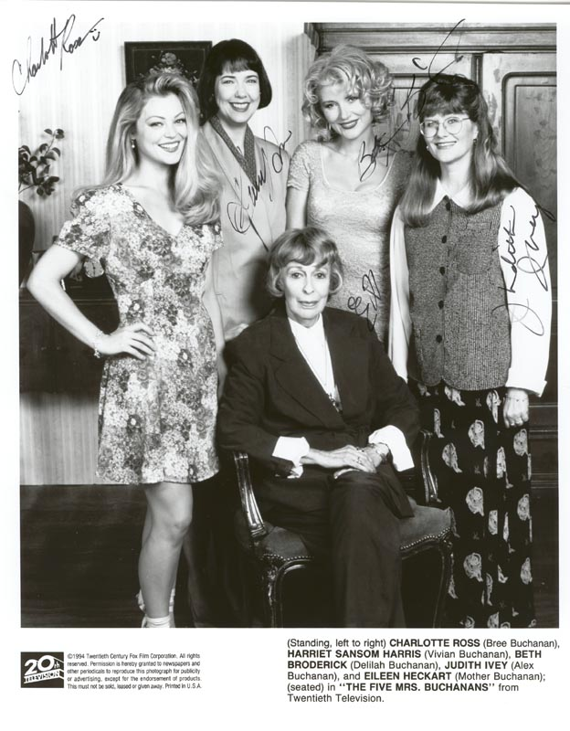 Image 1 for The Five Mrs Buchanans TV Cast - Autographed Signed Photograph Circa 1994 with co-signers - HFSID 255650