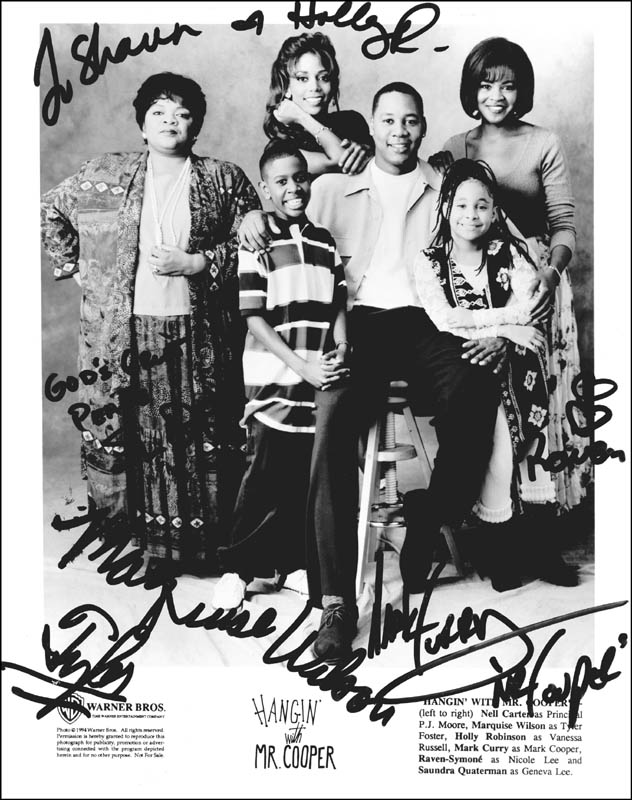 Image 1 for Hangin' With Mr. Cooper TV Cast - Autographed Inscribed Photograph Circa 1994 with co-signers - HFSID 255663