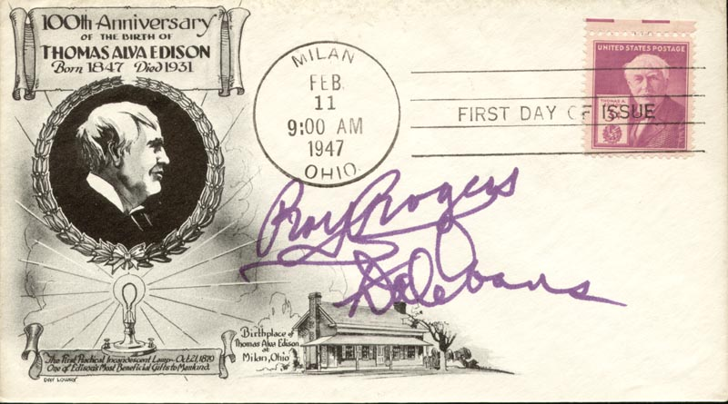 Image 1 for Roy Rogers - First Day Cover Signed co-signed by: Dale Evans - HFSID 255676