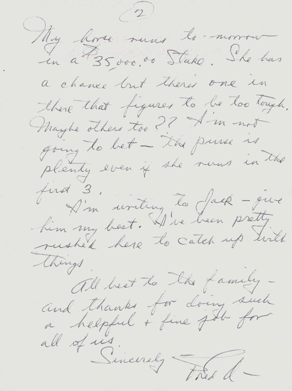 Image 1 for Fred Astaire - Autograph Letter Signed 02/02 - HFSID 255788