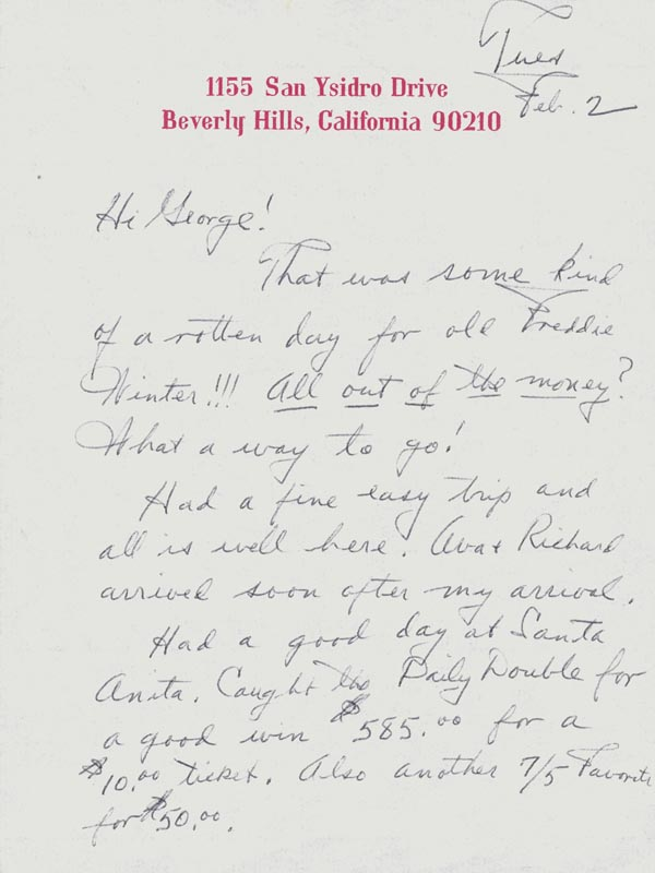 Image 3 for Fred Astaire - Autograph Letter Signed 02/02 - HFSID 255788