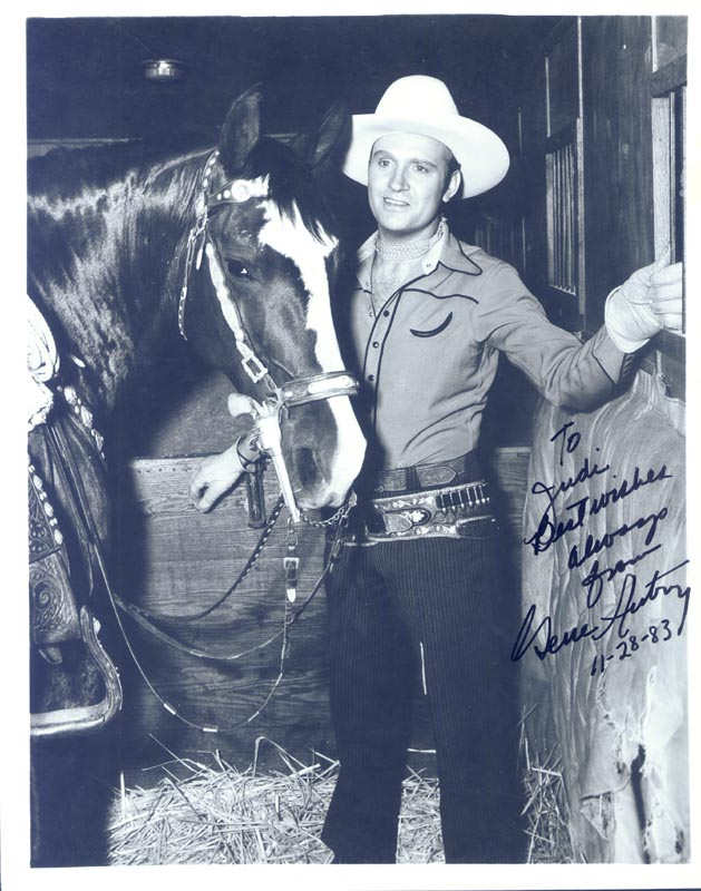 Image 1 for Gene Autry - Autographed Signed Photograph 11/28/1983 - HFSID 255822