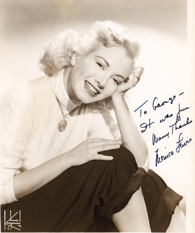Image 1 for Monica Lewis - Autographed Inscribed Photograph - HFSID 25605