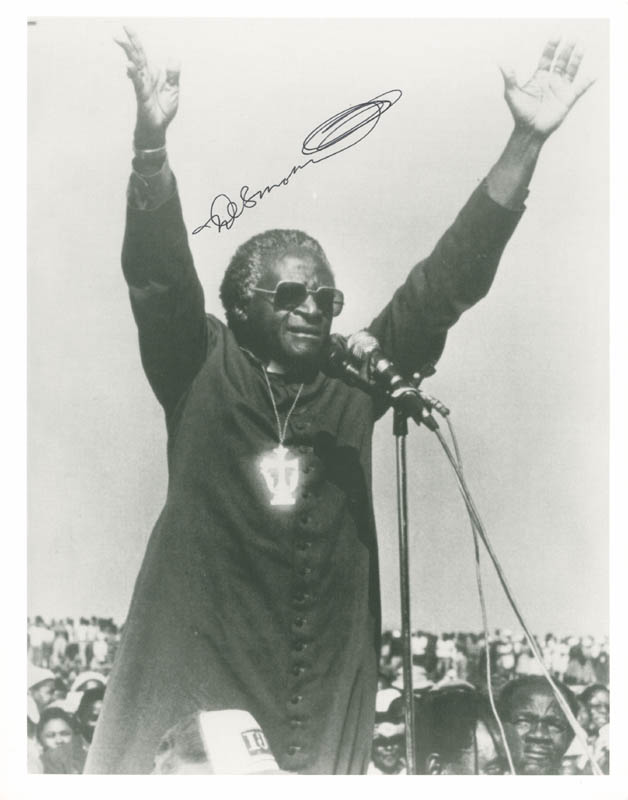 Image 1 for Bishop Desmond Tutu - Autographed Signed Photograph - HFSID 256131