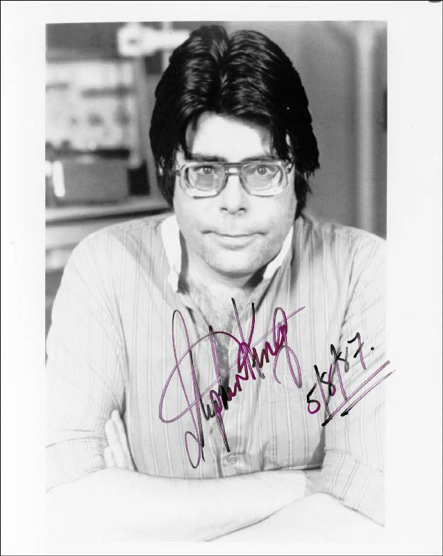 Image 1 for Stephen King - Autographed Signed Photograph 05/08/1987 - HFSID 256807