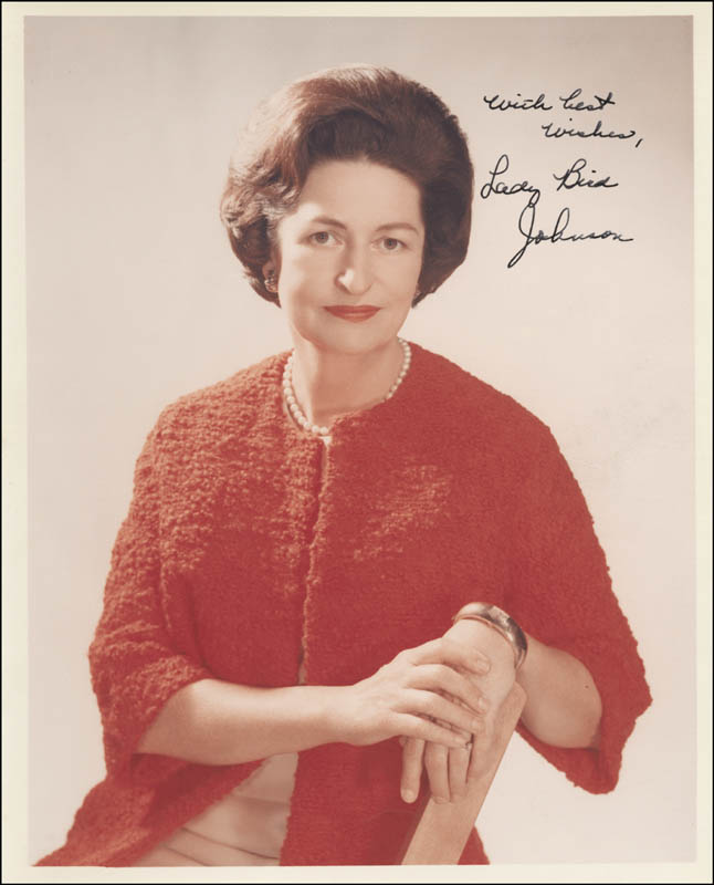 Image 1 for First Lady Lady Bird Johnson - Autographed Signed Photograph - HFSID 256896