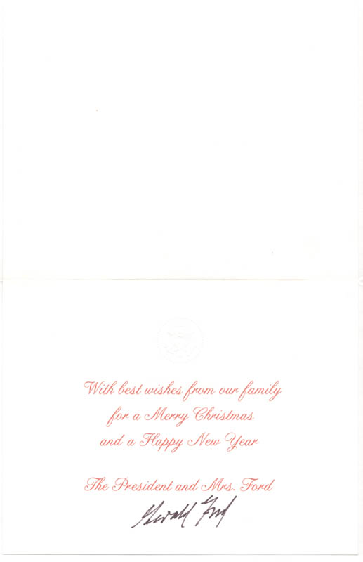 Image 3 for President Gerald R. Ford - Christmas / Holiday Card Signed - HFSID 256898