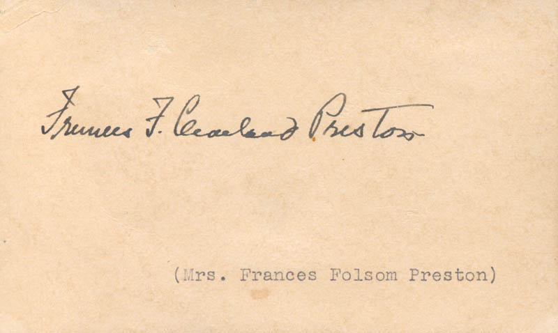 Image 1 for First Lady Frances F. Cleveland - Autograph - HFSID 256908