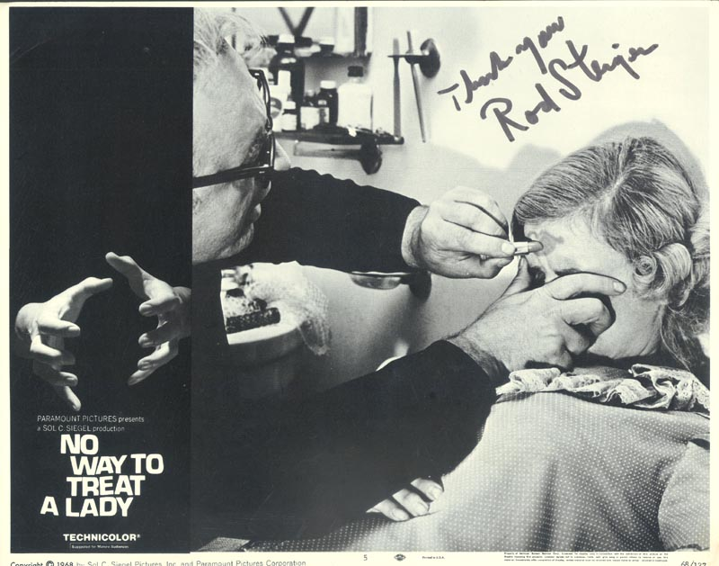 Image 1 for Rod Steiger - Lobby Card Signed - HFSID 256963