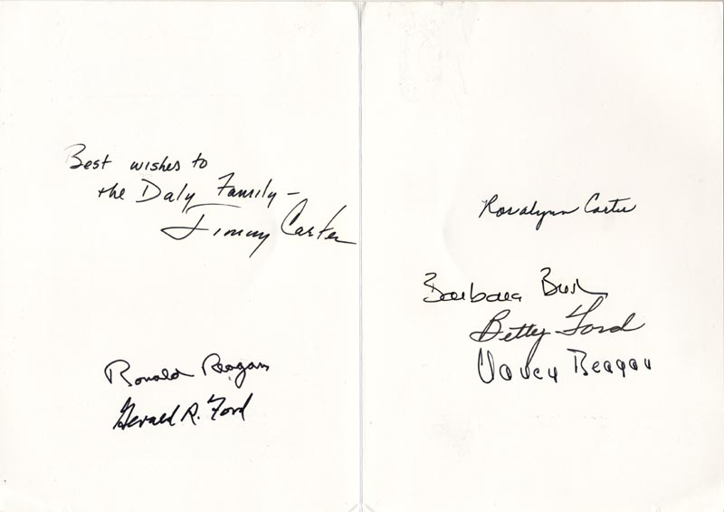 Image 1 for The Three Presidents - Inscribed Card Signed with co-signers - HFSID 257018