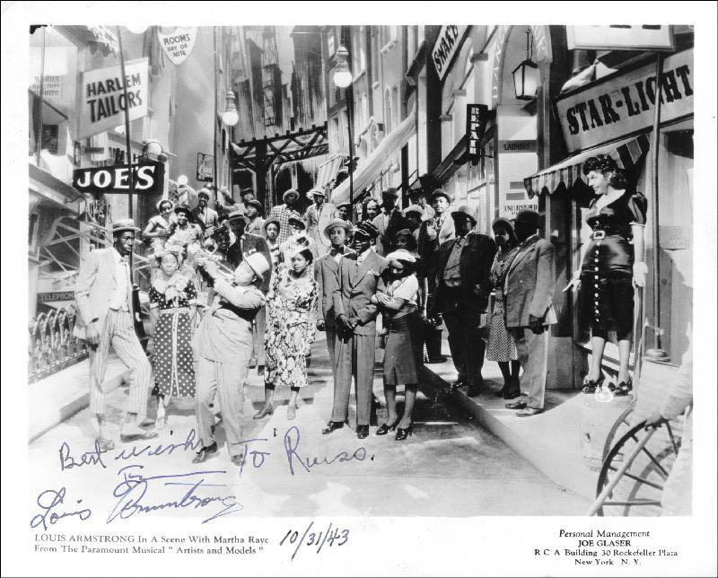 Image 1 for Louis 'Satchmo' Armstrong - Autographed Signed Photograph 10/31/1943 - HFSID 257029