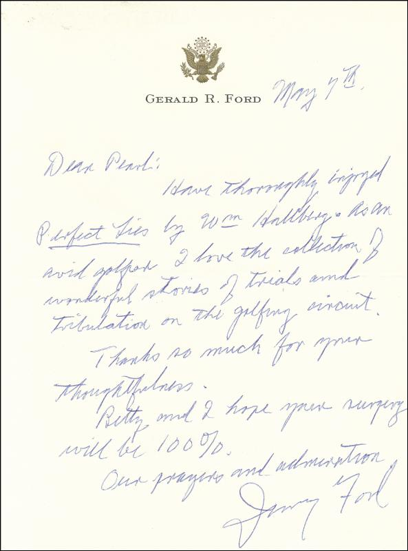 Image 1 for President Gerald R. Ford - Autograph Letter Signed 05/07 - HFSID 257078