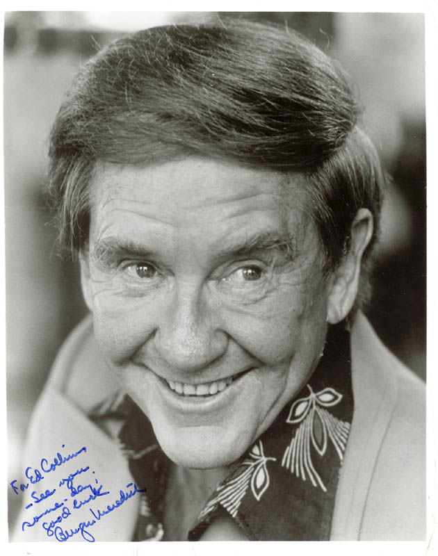 Image 1 for Burgess Meredith - Autographed Inscribed Photograph - HFSID 25710