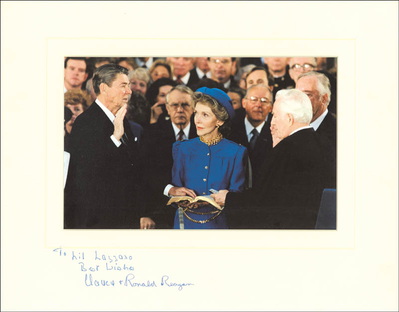 Image 1 for President Ronald Reagan - Autographed Inscribed Photograph co-signed by: First Lady Nancy Davis Reagan - HFSID 257144