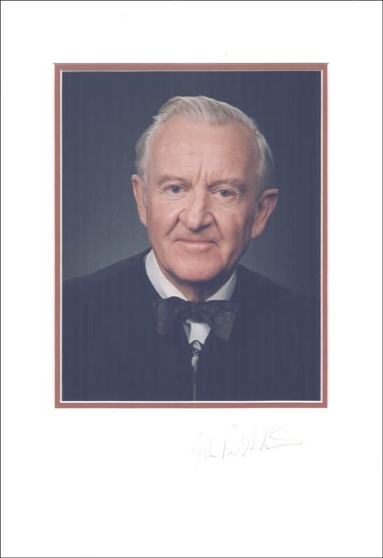 Image 1 for Associate Justice John Paul Stevens - Photograph Mount Signed - HFSID 257148