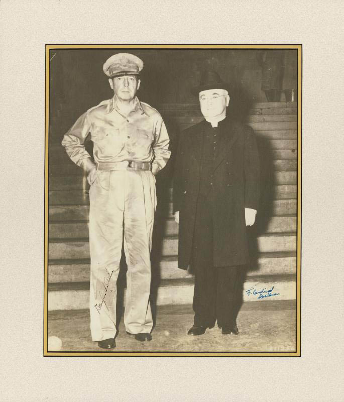 Image 1 for General Douglas Macarthur - Autographed Signed Photograph co-signed by: Francis Cardinal Spellman - HFSID 257163