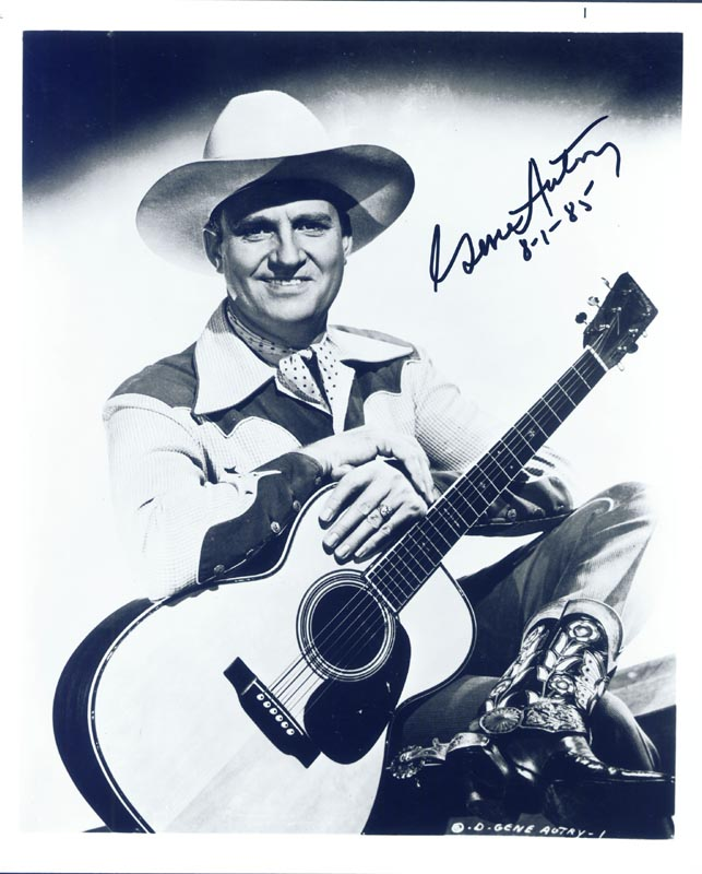 Image 1 for Gene Autry - Autographed Signed Photograph 08/01/1985 - HFSID 257331