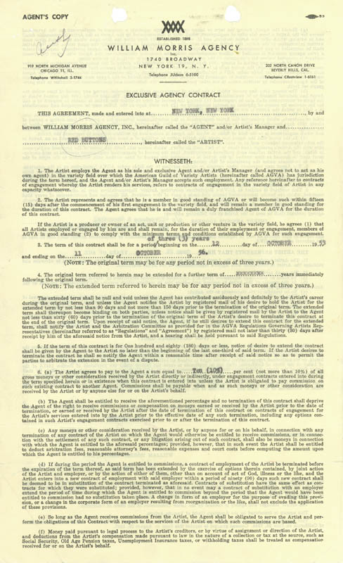 Image 1 for Red Buttons - Contract Signed 06/15/1953 - HFSID 257354