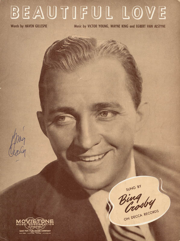 Image 1 for Bing Crosby - Sheet Music Signed Circa 1944 - HFSID 257371