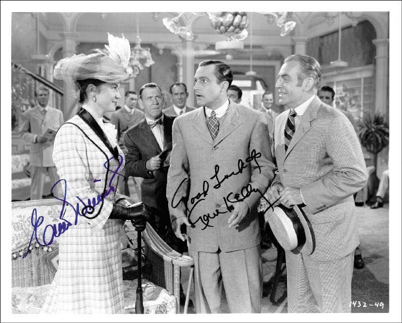 Image 1 for Take Me Out To The Ball Game Movie Cast - Autographed Signed Photograph co-signed by: Gene Kelly, Esther Williams - HFSID 257388