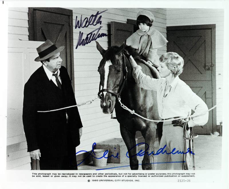 Image 1 for Little Miss Marker Movie Cast - Autographed Signed Photograph Circa 1980 co-signed by: Julie Andrews, Walter Matthau - HFSID 257404