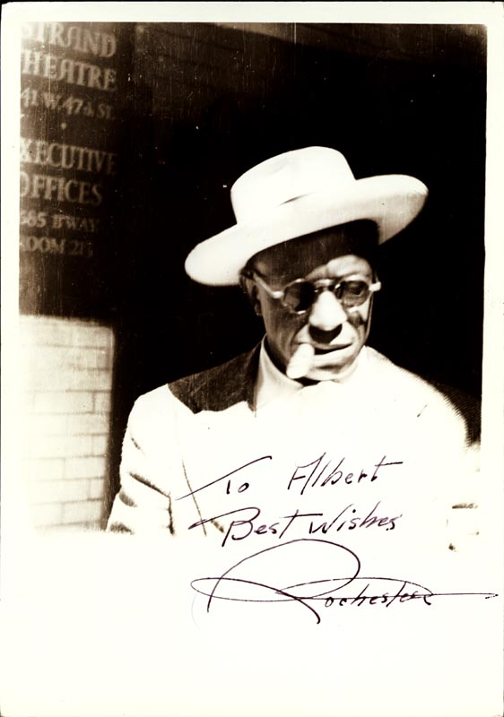 Image 1 for Eddie 'Rochester' Anderson - Autographed Inscribed Photograph Circa 1946 - HFSID 257426