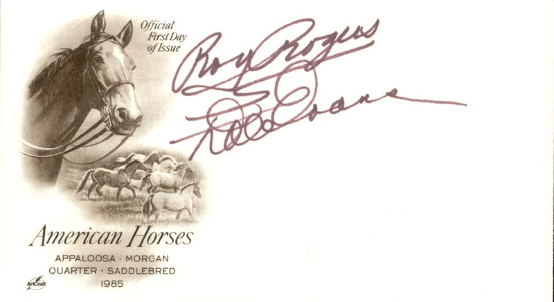 Image 1 for Roy Rogers - Envelope Signed co-signed by: Dale Evans - HFSID 257429