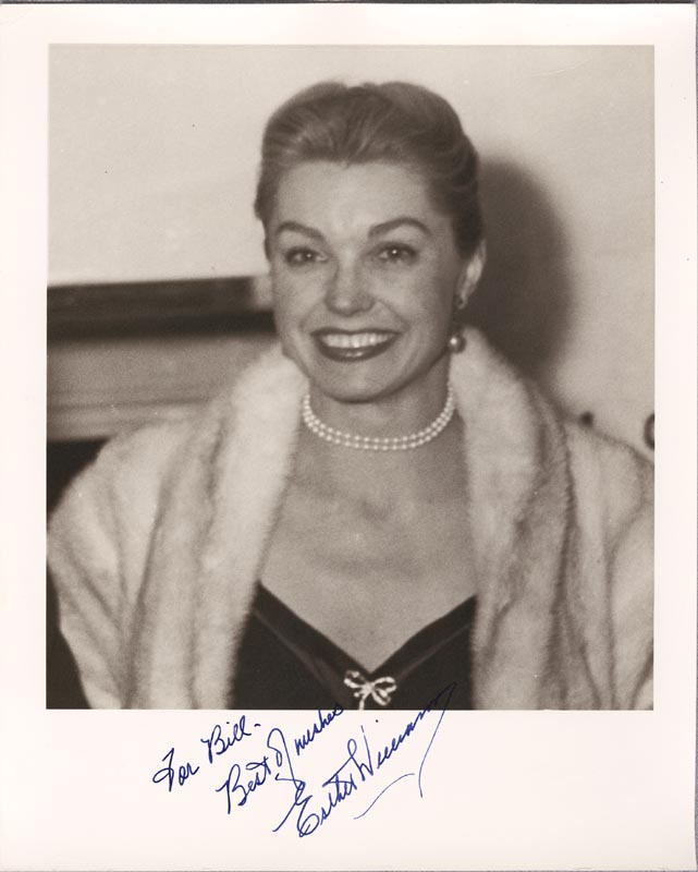 Image 1 for Esther Williams - Autographed Inscribed Photograph 12/13/1955 - HFSID 257461